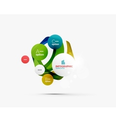 Abstract step infographics business layout vector