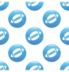 Rugby ball sign pattern vector