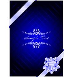 Blue present background vector