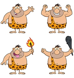 Cartoon caveman vector