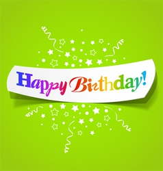 Happy birthday greetings vector