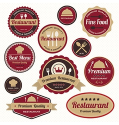 Set of vintage retro restaurant badges and labels vector