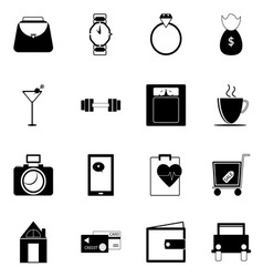 Adult lifestyle icons on white background vector