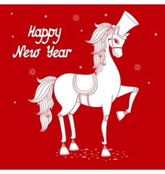 Year of horse 2 vector