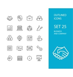 Outline icons thin flat design modern line stroke vector