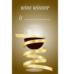 Best wine wine winner competition vector