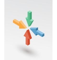 Isometric arrows icon vector