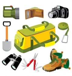 Travel objects vector