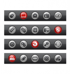 Computer and devices bars vector