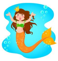 Mermaid princess vector