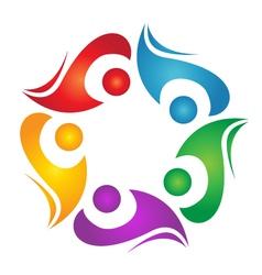 Teamwork diversity logo vector