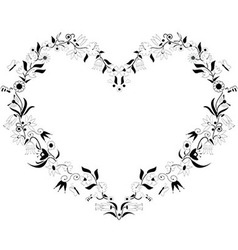 Spring heart shape icon vector