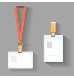 Lanyard badges flat design vector