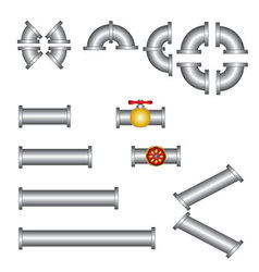 Pipes plumbing set vector