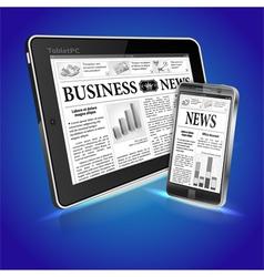Concept - digital news vector