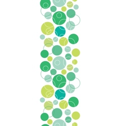 Abstract green circles seamless pattern background vector
