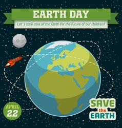 Earth day holiday poster vector