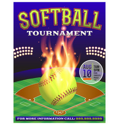 Softball tournament flyer vector
