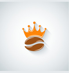 Coffee bean crown menu background vector