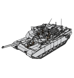 Tank abrams m1 vector