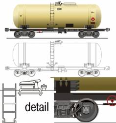 Oil gasoline tanker car vector