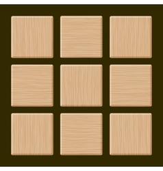 Set of blank wood box vector