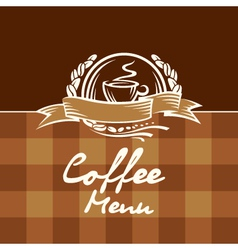 Coffee menu design vector