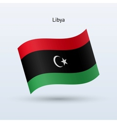 Libya flag waving form vector