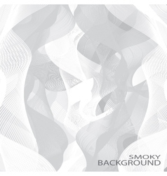 Grey smoky waves background  can be used vector