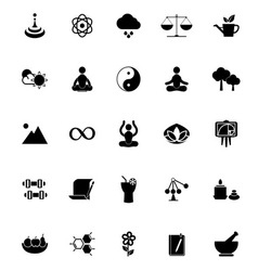 Zen concept icons on white background vector