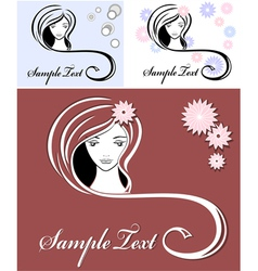 Girl advertising means of hair vector