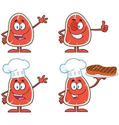 Cartoon meat vector