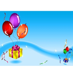 Floating gifts and balloons vector