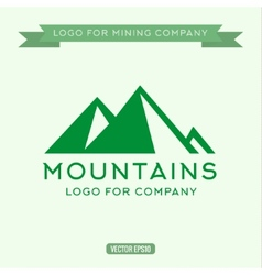 Logo abstract mountain vector