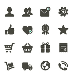 Universal icons set 1 vector