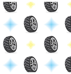 Seamless pattern with wheels vector
