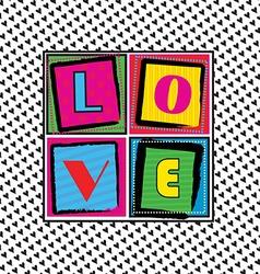 Cool love card vector