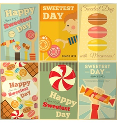 Sweetest day posters vector