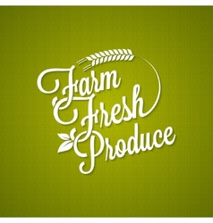 Farm fresh vintage lettering background vector