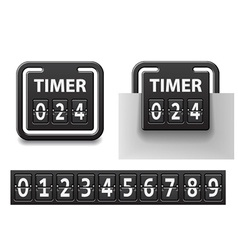 Countdown square mechanical timer vector