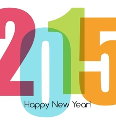 Happy new year greeting with number vector