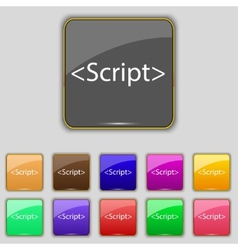 Script sign icon javascript code symbol set of vector