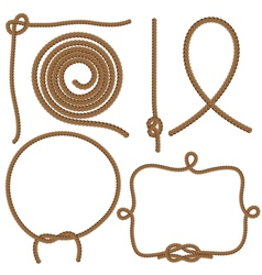 Ropes and knots vector