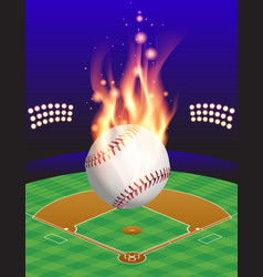 Fire baseball field vector