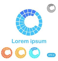 C letter segment logo template vector