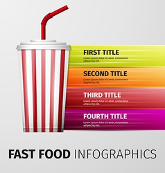 Fast food infographics vector