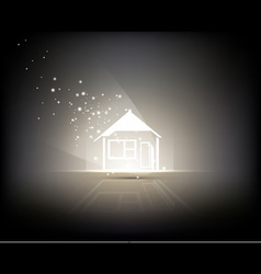 Illuminated home vector