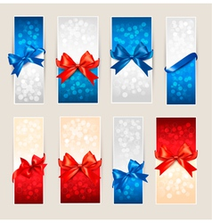 Gift card backgrounds vector