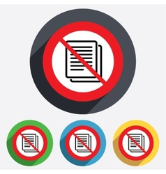 No copy file sign icon duplicate document vector