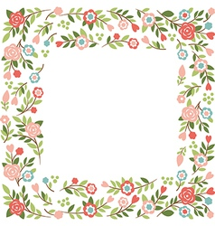 Floral frame with place for your text vector